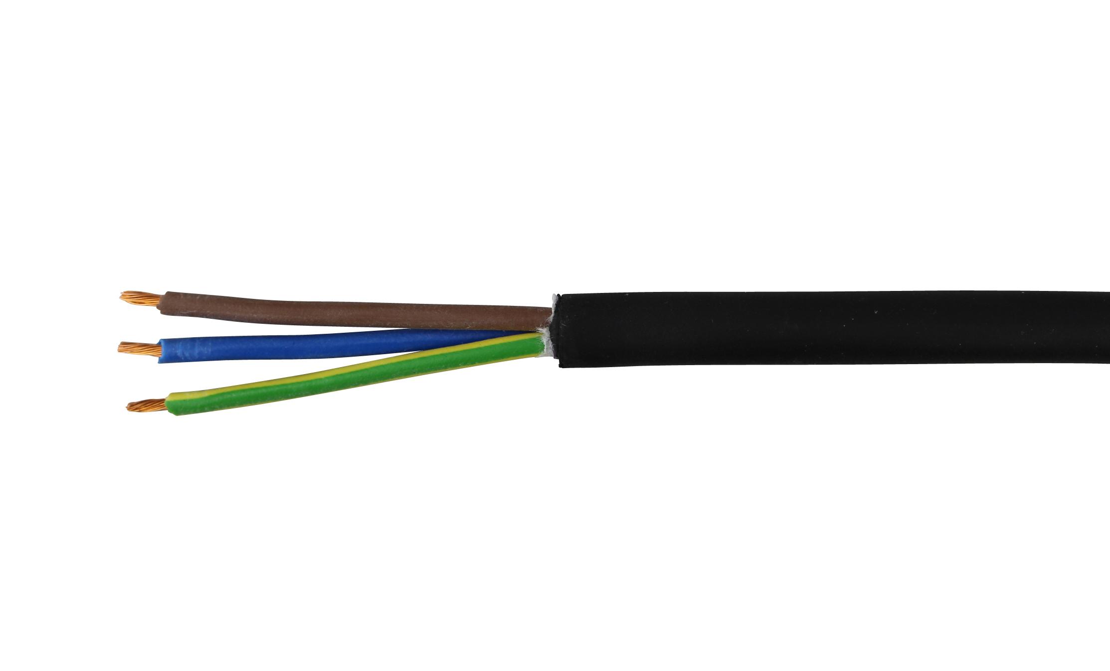 Meter Schwere Gummischlauchleitung H07RN-F 3G 2,5mm² lfd