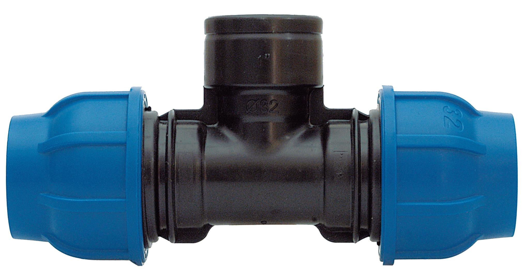 Sehr DUG GmbH - PE-Rohr T-Stück mit IG-Abzweigung 32 mm x 1/2